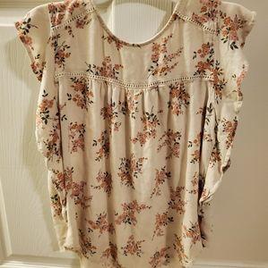 Womens short sleeve blouse
